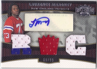 2006 Topps Triple Threads #113 Laurence Maroney JSY AU RC