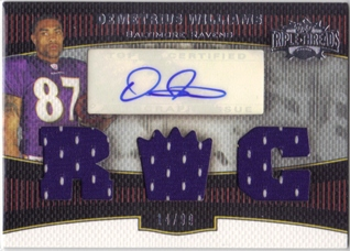 2006 Topps Triple Threads #125 Demetrius Williams JSY AU RC