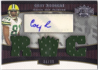 2006 Topps Triple Threads #145 Cory Rodgers JSY AU RC