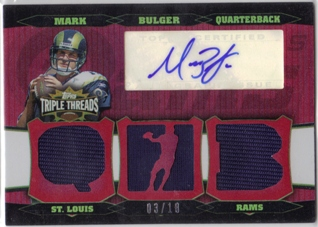 2006 Topps Triple Threads Autographed Relic Red #86 Marc Bulger