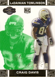 2007 Topps Co-Signers Changing Faces Gold Green #79B Craig Buster Davis/LaDainian Tomlinson