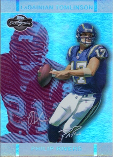 2007 Topps Co-Signers Changing Faces Holosilver Red #6A Philip Rivers/LaDainian Tomlinson