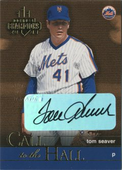 2003 Donruss Champions Call to the Hall Autographs #2 Tom Seaver/10