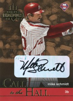 2003 Donruss Champions Call to the Hall Autographs #10 Mike Schmidt/10