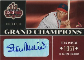 2003 Donruss Champions Grand Champions Autographs #1 Stan Musial/10
