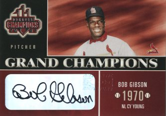 2003 Donruss Champions Grand Champions Autographs #11 Bob Gibson/5