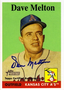 2007 Topps Heritage Real One Autographs #DM Dave Melton