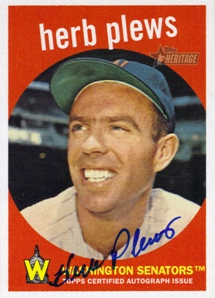 2008 Topps Heritage Real One Autographs #HP Herb Plews
