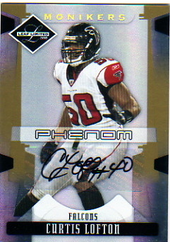 2008 Leaf Limited Monikers Autographs Gold #222 Curtis Lofton