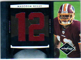 2008 Leaf Limited Rookie Jumbo Jerseys Jersey Number #14 Malcolm Kelly