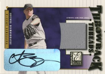 2002 Donruss Elite Throwback Threads Autographs #22 Curt Schilling/10