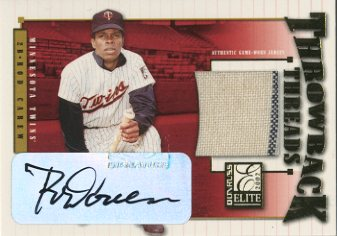 2002 Donruss Elite Throwback Threads Autographs #55 Rod Carew Twins/10