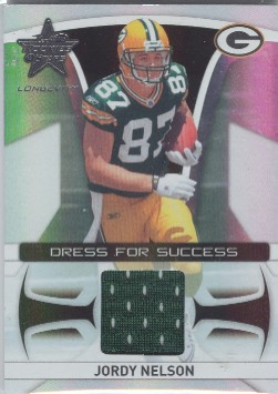 2008 Leaf Rookies and Stars Longevity Dress for Success Jerseys #8 Jordy Nelson