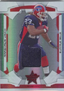 2008 Leaf Rookies and Stars Longevity Materials Ruby #11 Marshawn Lynch/350