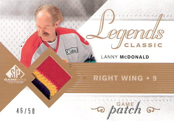 2007-08 SP Game Used Legends Classic Jerseys Patches #HGJLM Lanny McDonald