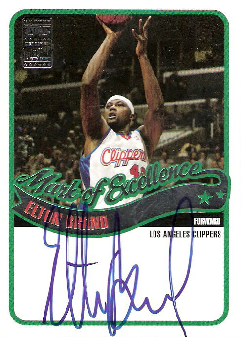 2003-04 Topps Mark of Excellence Autographs #EB Elton Brand D
