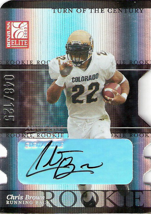2003 Donruss Elite Turn of the Century Autographs #115 Chris Brown
