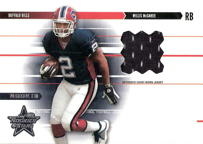 2003 Leaf Rookies and Stars #260 Willis McGahee JSY RC