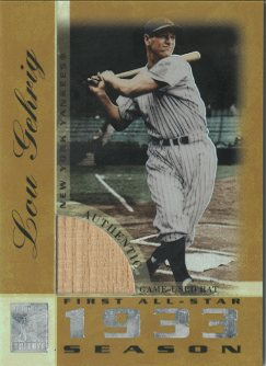 2003 Topps Tribute Perennial All-Star Relics Gold #LG Lou Gehrig Bat