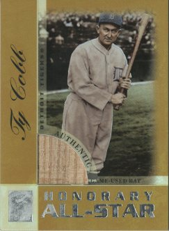 2003 Topps Tribute Perennial All-Star Relics Gold #TC Ty Cobb Bat