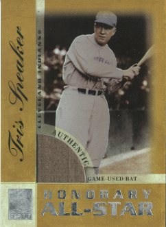 2003 Topps Tribute Perennial All-Star Relics Gold #TS Tris Speaker Bat