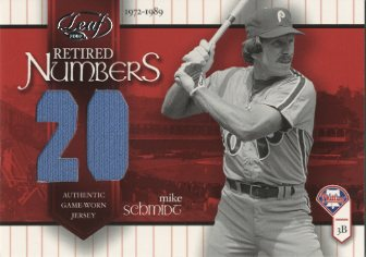 2002 Leaf Retired Number Jerseys #RN1 Mike Schmidt/20