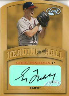 2002 Leaf Heading for the Hall Autographs #1 Greg Maddux