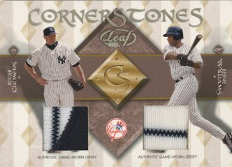 2002 Leaf Cornerstones #10 Bernie Williams/Roger Clemens