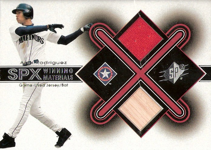 2001 SPx Winning Materials Bat-Jersey #AR1 Alex Rodriguez AS