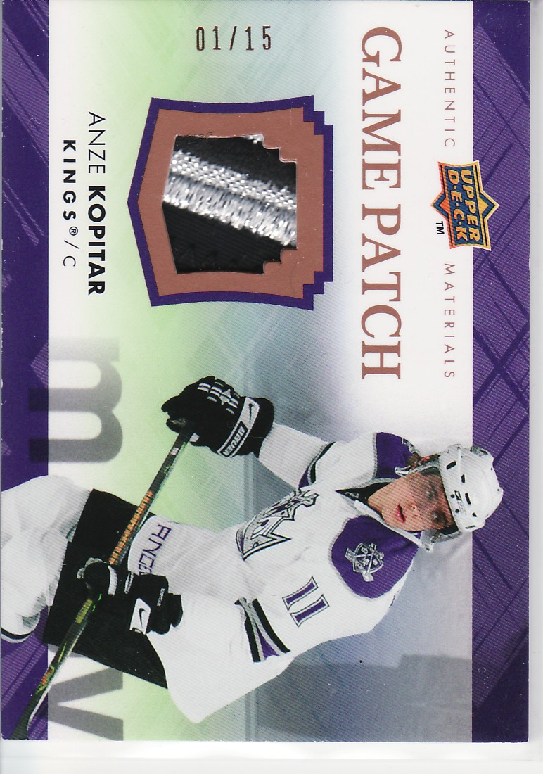 2007-08 Upper Deck Game Patches #GJ2KO Anze Kopitar