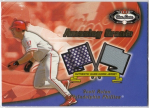 2002 Fleer Box Score Amazing Greats Single Swatch #12 Scott Rolen