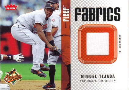 2006 Fleer Fabrics #TE Miguel Tejada Jsy