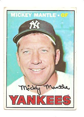 1967 Topps #150 Mickey Mantle front image