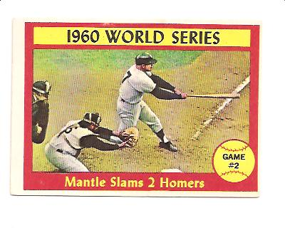 1961 Topps #307 World Series Game 2/Mickey Mantle front image