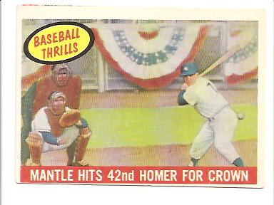 1959 Topps #461 Mickey Mantle BT/42nd Homer front image