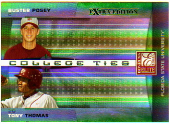 2008 Donruss Elite Extra Edition College Ties Green #30 Buster Posey#[Tony Thomas