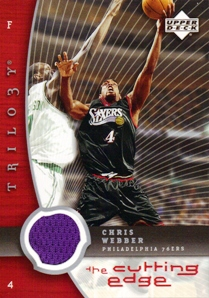 2005-06 Upper Deck Trilogy The Cutting Edge #CW Chris Webber
