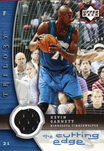 2005-06 Upper Deck Trilogy The Cutting Edge #KG Kevin Garnett