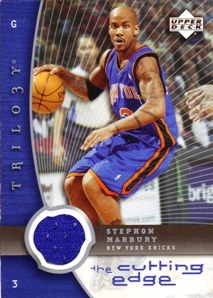 2005-06 Upper Deck Trilogy The Cutting Edge #SM Stephon Marbury