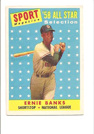 1958 Topps #482 Ernie Banks AS front image