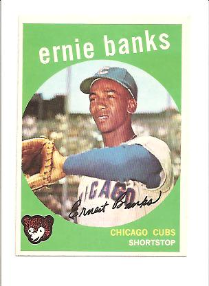 1959 Topps #350 Ernie Banks front image