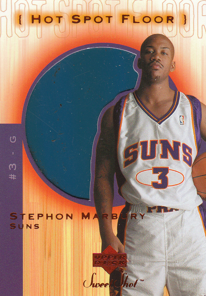 2001-02 Sweet Shot Hot Spot Floor #SMF Stephon Marbury