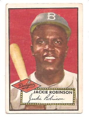 1952 Topps #312 Jackie Robinson DP