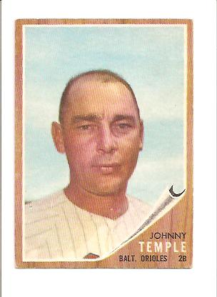 1962 Topps #34 Johnny Temple