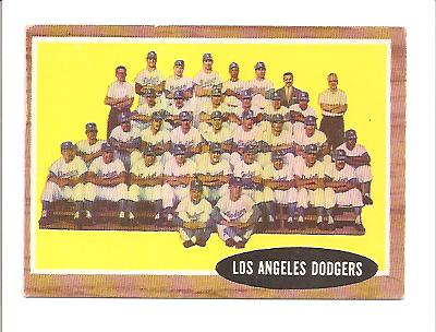 1962 Topps #43 Los Angeles Dodgers TC