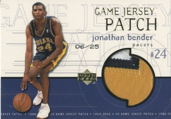 1999-00 Upper Deck Game Jerseys Patch Super #JB Jonathan Bender front image