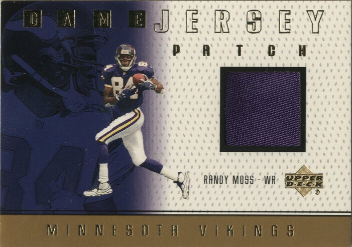 1999 Upper Deck Game Jersey Patch #RMP Randy Moss