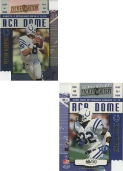 1999 Leaf Rookies and Stars Ticket Masters Executives #5 E.James/P.Manning front image