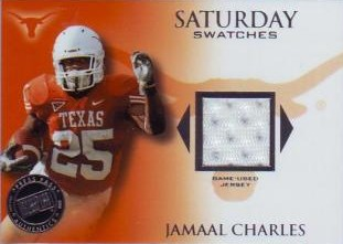 2008 Press Pass Legends Saturday Swatches Silver #SSWJC Jamaal Charles