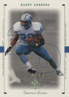 1999 SP Authentic Excitement Gold #28 Barry Sanders front image